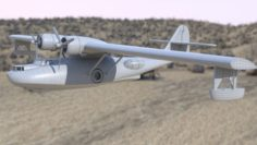 Consolidated PBY Catalina Flying Boat 3D Model