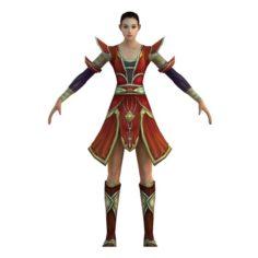 Game 3D Character – Female Taoist 03 3D Model