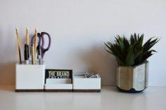 Modular Desk Organizer 3D Model
