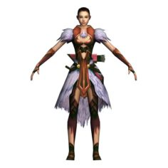 Game 3D Character – Female Archer 03 3D Model