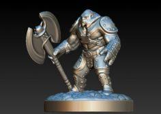 The hero from the gameDota 2 Axenew armor 3D Model