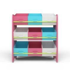 3D Kids Storage Box Shelf System -Girls 3D Model