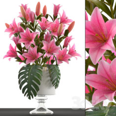 Collection of flowers 49. Bouquet of lilies.                                      3D Model