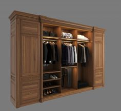 Wardrobe with Clothes 2 3D Model