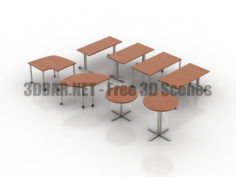Herman Miller HMI Everywhere Table Conference 3D Collection