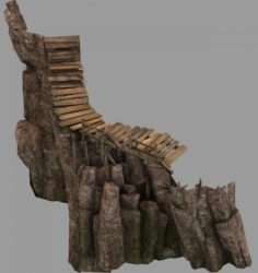 Brutal tribal – mountain plank road 3D Model