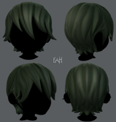 3D Hair style for boy V11 3D Model
