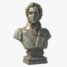 Alexander Sergeyevich Pushkin 3D Model