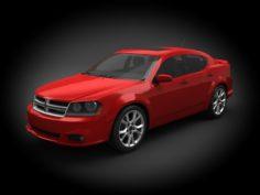 Dodge Avenger RT 2012 3D Model