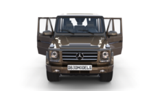 Mercedes Benz G Class with interior Brown 3D Model