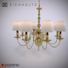 Eichholtz Chandelier Bourbon 3D Model