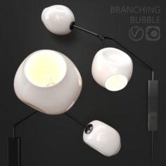 Bra Branching bubble by Lindsey Adelman MILK BLACK 3D Model