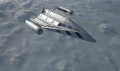 Old spaceship Free 3D Model
