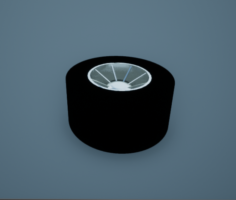 Formula 1 Slick Racing Tyre Free 3D Model