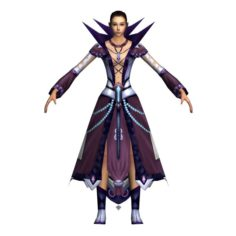 Game 3D Character – Female Mage 04 3D Model