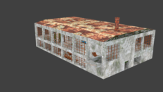 Factory Ruined 3D Model