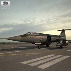 Lockheed F-104 Starfighter 3D Model