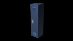 School Locker Set 3D Model