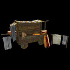 Medieval Cloth Shop 3D Model
