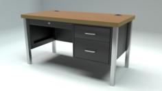 School Classroom Teachers Desk 3D Model