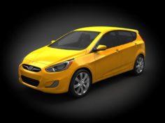 Hyundai Accent 2012 Hatchback 3D Model