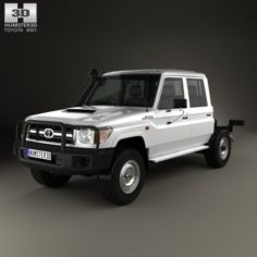 Toyota Land Cruiser VDJ79R Double Cab Chassis 2012 3D Model