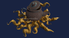 Kettle with octopus 3D Model