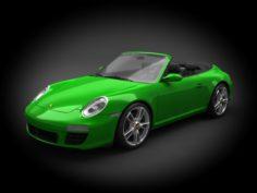 Porsche 911 997 2011 Cabrio 3D Model