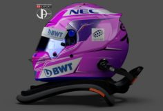 Racing helmet Bell HP7 with Hans systemOcon fantasy design 3D Model