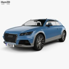 Audi Allroad Shooting Brake 2014 3D Model