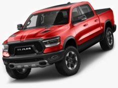 Ram 1500 Rebel 2019 3D Model