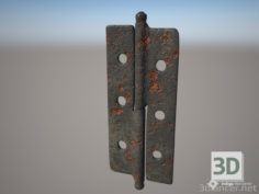 3D-Model  Door hinge (old)