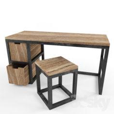 Worktable Loft                                      Free 3D Model