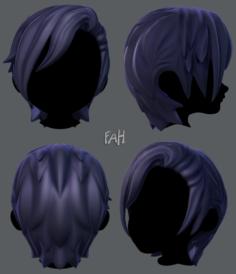 3D Hair style for boy V08 3D Model