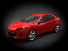 Mazda 3 2012 Sedan 3D Model