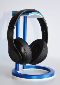 Dual Color Infinity Headphone Stand 3D Model