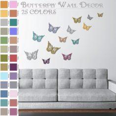 Butterfly Wall decoration – Wall art 3D Model