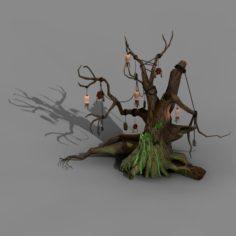 Koike town – Lanruo Temple – dead trees 3D Model