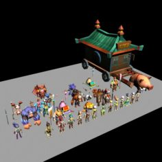 Game character – 20 sci-fi character model 3D Model
