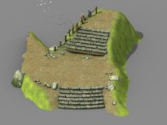 New Village – stone steps 3D Model