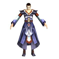 Game 3D Character – Male Mage 03 3D Model