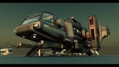 Warthog Class Heavy Assault Transport 3D Model