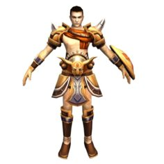 Game 3D Character – Male Warrior 3 3D Model