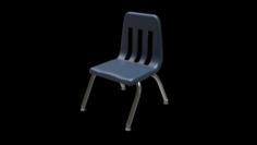 School Classroom Student Chair 2 3D Model
