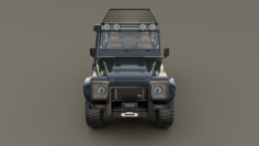 Land Rover Defender 110 Custom v1 3D Model
