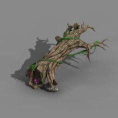 Koike town – Lanruo Temple – horizontal dead wood 3D Model