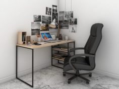 Office Set 3D Model