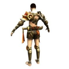 Game 3D Character – Male Warrior 02 3D Model