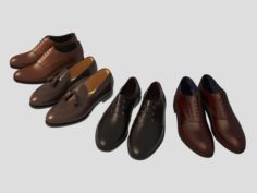 Leather Shoes 3D Model