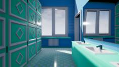 Men and Women Restrooms 3D Model